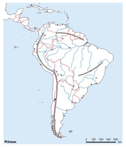 Stumme Karte Nordamerika.Geolearn